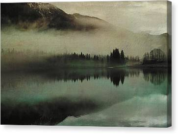 November Lake Canvas Print by AugenWerk Susann Serfezi