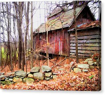 Canvas Print featuring the photograph November Stark by Betsy Zimmerli
