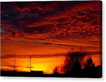 November Sunset Canvas Print by Dave Clark