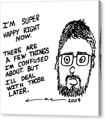 Now Comic Canvas Print by Karl Addison