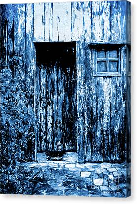 Abandoned Houses Canvas Print - Nowhere Somewhere Door by Mona Stut
