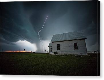 Canvas Print featuring the photograph Nowhere To Run by Aaron J Groen