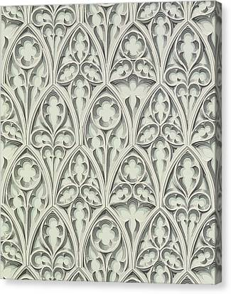 Repeat Canvas Print - Nowton Court by Augustus Welby Pugin