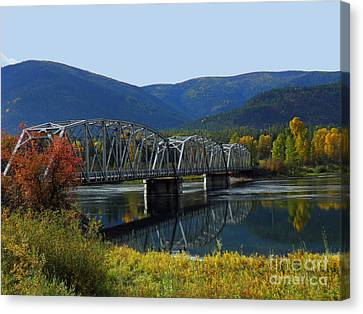 Noxon Bridge Canvas Print by Tonya P Smith