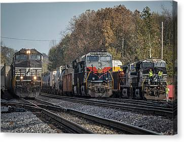 Southern Indiana Canvas Print - Ns 8101 Heritage Unit Central Of Georgia At Princeton In by Jim Pearson