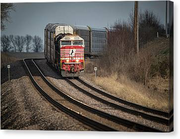 Southern Indiana Canvas Print - Ns 911 Heritage Unit At Princeton In by Jim Pearson