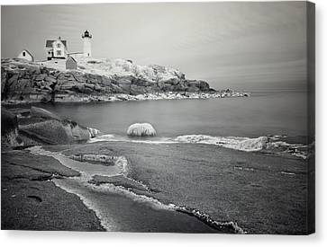 Nubble Light Black And White Canvas Print by Luke Moore