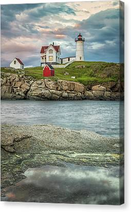 Nubble Light Canvas Print by Brian Caldwell