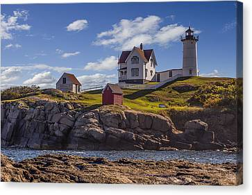 Nubble Light Canvas Print by Capt Gerry Hare