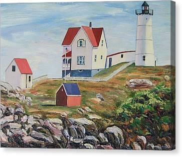 Nubble Light House Maine Canvas Print by Richard Nowak