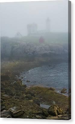 Nubble Lighthouse Canvas Print - Nubble Light by Joseph Smith