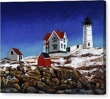 Nubble Light Canvas Print by Paul Gardner