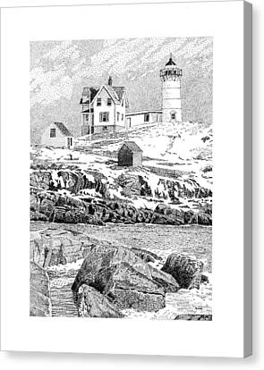 Cape Neddick Canvas Print - Nubble Light by Philip LeVee
