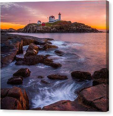 Nubble Light Sunrise Canvas Print