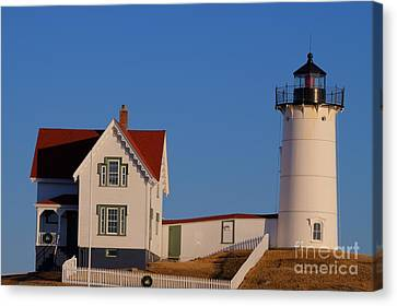 Canvas Print featuring the photograph Nubble Lighthouse by David Bishop