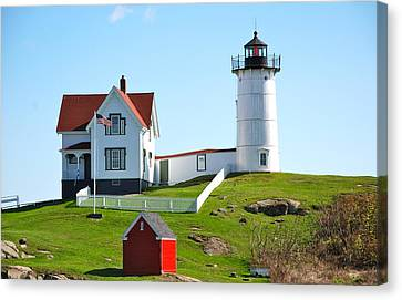 Nubble Lighthouse Canvas Print by Eric Tressler