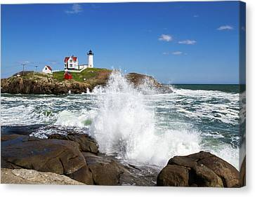 Nubble Lighthouse Canvas Print by Robert Clifford