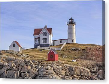 Nubble Lighthouse York Maine Canvas Print by Edward Fielding