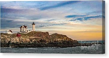 Nubble Lighthouse, York, Maine Canvas Print by Ken Marsh
