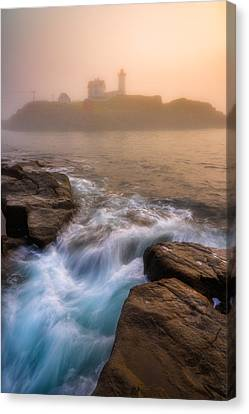 Nubble Morning Fog Canvas Print