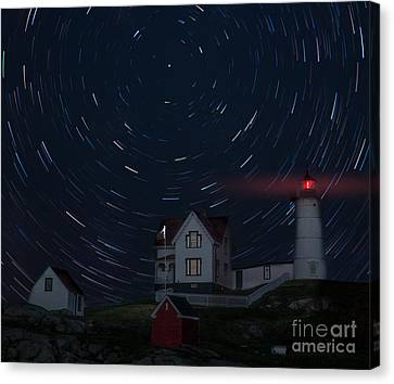 Nubble Startrails Canvas Print by Jerry Fornarotto