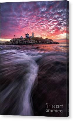 Nubble Lighthouse Canvas Print - Nubble Sunrise by Benjamin Williamson
