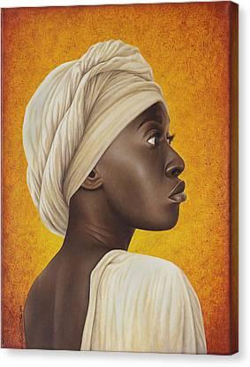 Dark Skin Canvas Print - Nubia by Horacio Cardozo