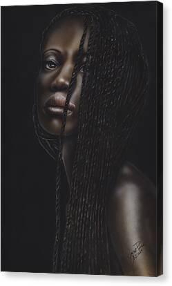 South Sudan Canvas Print - Nubian Beauty by Wayne Pruse