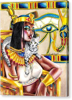 Nubian Queen Canvas Print by Scarlett Royal