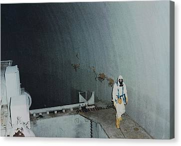 Nuclear Engineer Inside Unit 2 Canvas Print by Everett