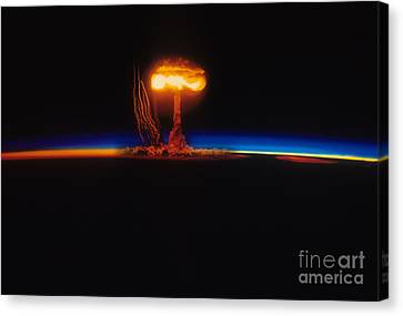 Nuclear Explosion Canvas Print by Stocktrek Images