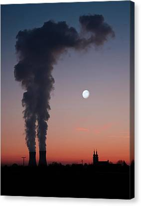 Nuclear Power Station In Bavaria Canvas Print