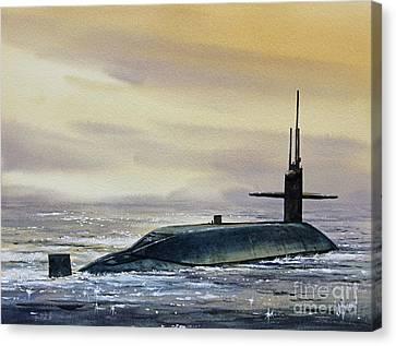 Nuclear Submarine Canvas Print by James Williamson