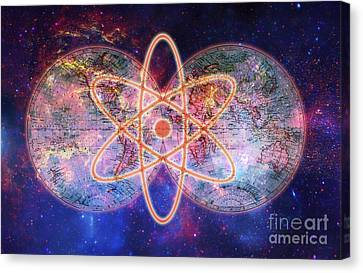 Nuclear World Canvas Print by George Mattei