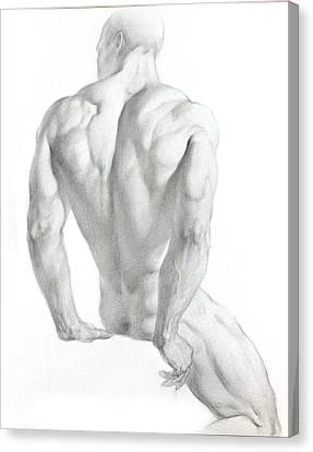 Canvas Print featuring the drawing Nude 3 by Valeriy Mavlo