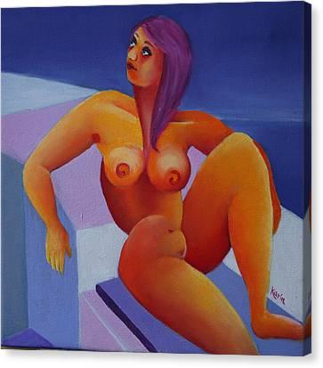 Nude 5 Canvas Print by Karin Eisermann