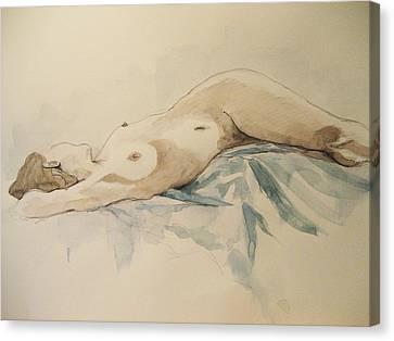 Nude 9 Canvas Print by Victoria Heryet