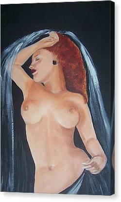 Nude Bride Canvas Print by Martha Mullins