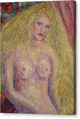 Nude Fantasy Canvas Print by Natalie Holland