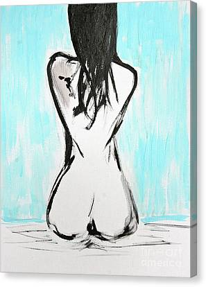 Nude Female Canvas Print by Julie Lueders