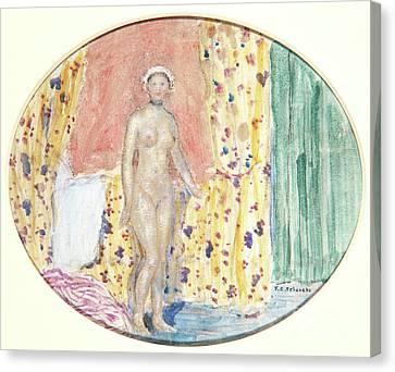 Choker Canvas Print - Nude by Frederick Carl Frieseke