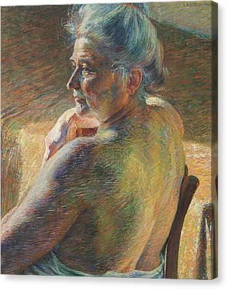 Boccioni Canvas Print - Nude From Behind by Umberto Boccioni