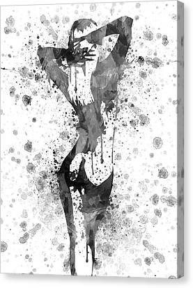 Nude In Black And White Canvas Print by Aged Pixel