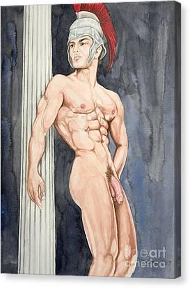 Descendant Canvas Print - Nude Male Spartan by The Artist Dana