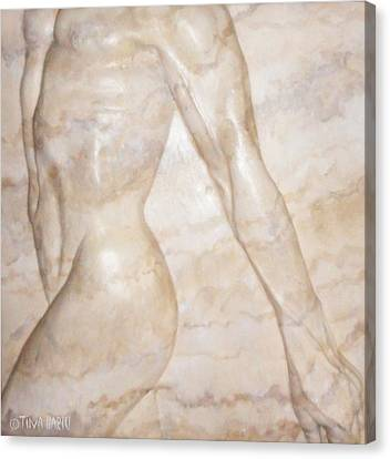 Nude Male Strolling Canvas Print by Tina Hariu