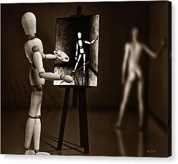 Nude Model  Canvas Print by Bob Orsillo