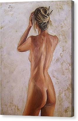 Nude Canvas Print by Natalia Tejera