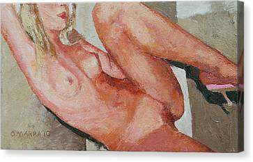 Nude On The Diagonal Canvas Print by Allan OMarra