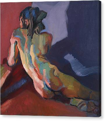 Nude Portrait Of D Canvas Print by Piotr Antonow