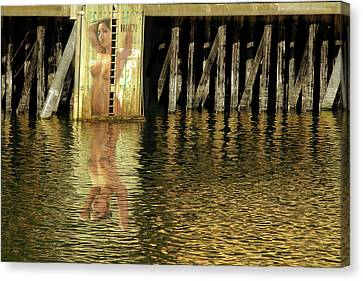 Nude Reflection Canvas Print by Harry Spitz